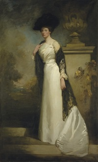 portrait of mrs. ashley critchley by sholto johnstone douglas
