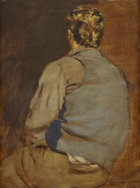 seated blonde youth by walter stuempfig