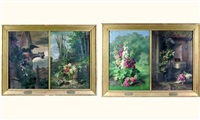 les quatre saisons (4 works in 2 frames) by etienne corpet