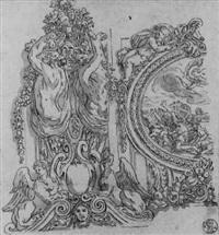 un lambris représentant arthémis où apollon perçant de flèches les enfants de niobé by jean le pautre