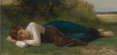 le repos jeune fille couchée by william adolphe bouguereau