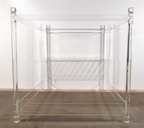 lucite bed, manner of charles hollis jonescharles hollis jones