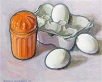 still life with eggs by arnold auerbach