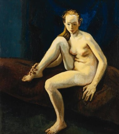 blonde nude by moses soyer