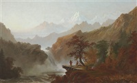 western landscape by alexander françois loemans