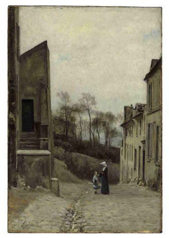 montmartre la rue cortot by stanislas lépine