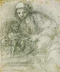 the madonna and child with a carthusian monk by alessandro tiarini