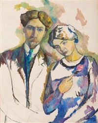 autoportrait de l'artiste et de son épouse by léopold survage