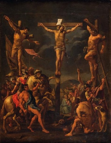 la crucifixion by karel dujardin