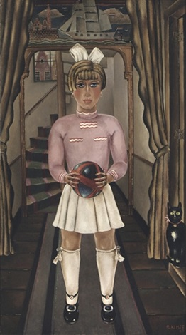 girl with a ball by reimond kimpe