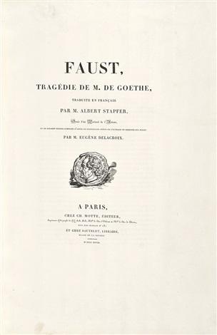 faust tragédie de m de goethe bk w18 works by eugène delacroix
