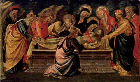 die grablegung christi by domenico di michelino