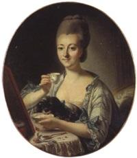 portrait de la marquise de la pouplenière by françois bruno deshays de colleville