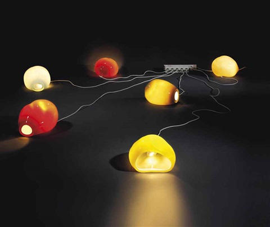 untitled (six lamps) by jorge pardo