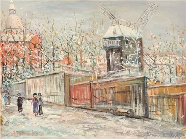 montmartre sous la neige by maurice utrillo