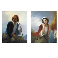 the greek sentine (+ reclining woman; pair) by giovanni marghinotti