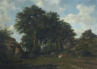 la plaine des rocailles près laroche (haute savoie) by antonio fontanesi