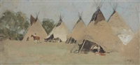 indian camp by henry f. farny
