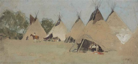 indian camp by henry f farny