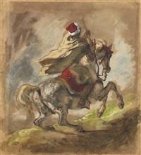 cavalier arabe galopant by eugène delacroix