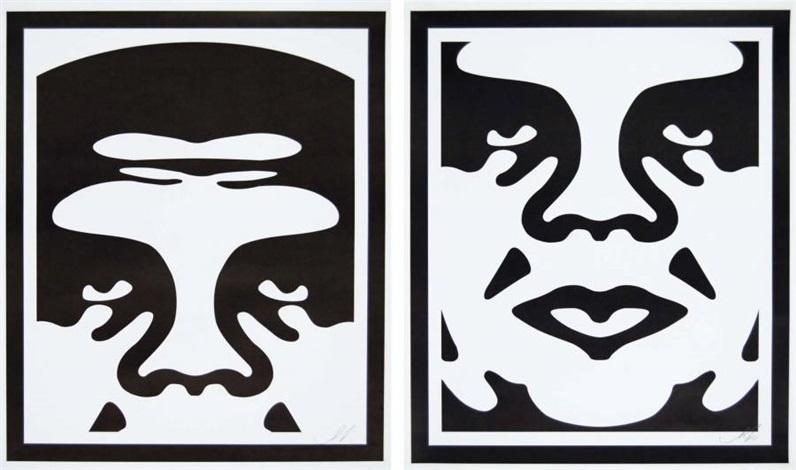 obey (2 works) by shepard fairey