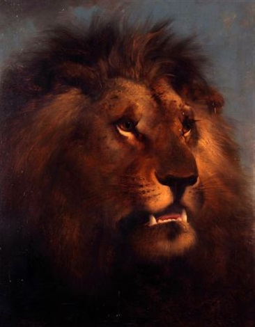 a lions head by edward robert smythe
