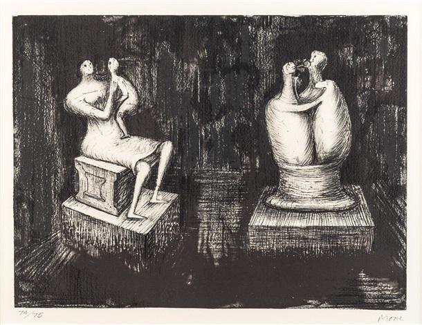 Sculptures, Dark Interiors by David Moore on artnet
