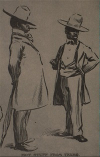 full length and bust caricatures of seven black gentlemen in fine clothes by edward windsor kemble