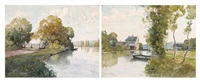 les bords de l'epte (eure) (2 works) by émile appay