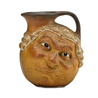 double-sided barrister face jug by robert wallace martin