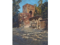 the alhambra gateway, granada by robert gwelo goodman