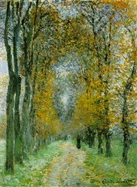 l'allée by claude monet