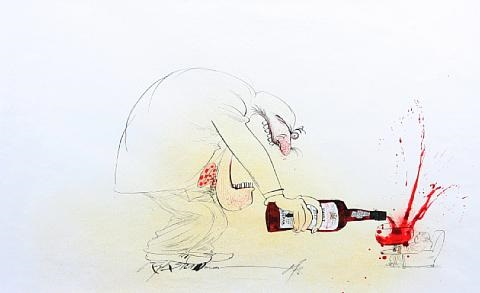 untitled drawing for an oddbins advertising campaign by ralph idris steadman
