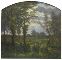 paysage animé by hector louis allemand