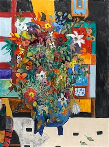 vase of flowers by nili milikowsky