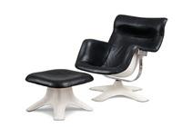 karuselli armchair and ottoman (set of 2) by yrjö kukkapuro