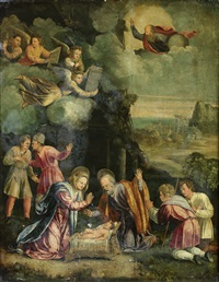 the adoration of the shepherds by battista (de luteri) dossi