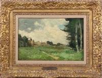 landscape by alfred sisley