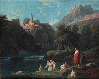 baigneuses dans un torrent by jean henry d' arles