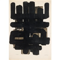 lithographie n ° 3 by pierre soulages
