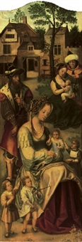 saint mary of cleophas and her family by jan van dornicke