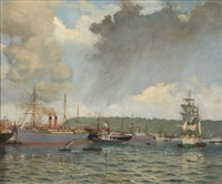 the point wharves, durban harbour by cathcart william methven