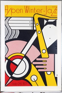 aspen winter jazz, 1967 by roy lichtenstein