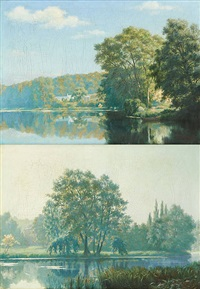 bords de rivière (2 works) by pierre abattucci