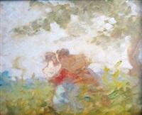 le couple enlacé by frédéric bazille
