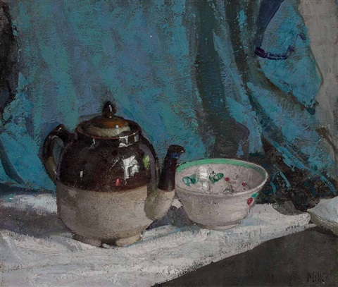 teapot and bowl by richard edward miller