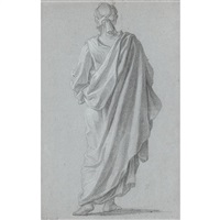 standing figure viewed from behind by noël nicolas coypel