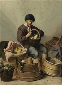 an egg dealer by gerard van donck