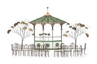 bandstand wall sculpture by curtis jere