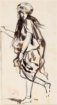 jeune homme au turban by eugène fromentin